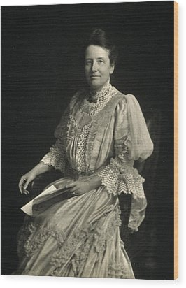 First Lady Edith Kermit Roosevelt, Wife Wood Print by Everett