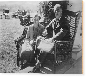 First Lady Eleanor Roosevelt, President Wood Print by Everett