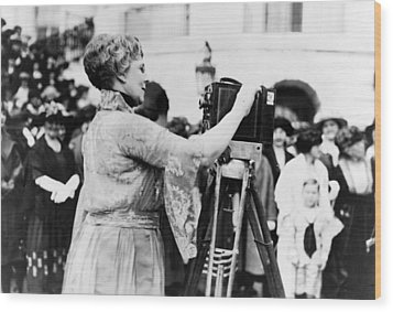 First Lady Florence Harding, Wife Wood Print by Everett