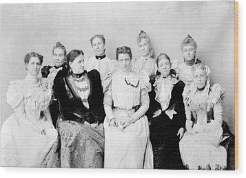 First Lady Frances Folsom Cleveland Wood Print by Everett