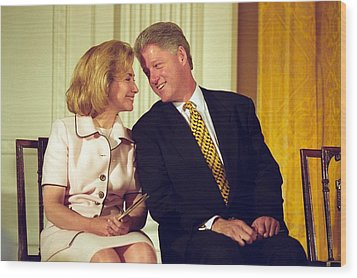 First Lady Hillary Clinton Wood Print by Everett