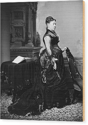 First Lady Julia Dent Grant, Wife Wood Print by Everett