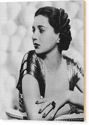 First Lady, Kay Francis, 1937 Wood Print by Everett