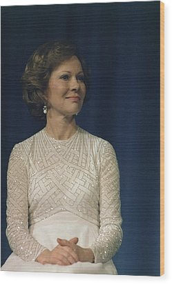 First Lady Roslyn Carter In A White Wood Print by Everett