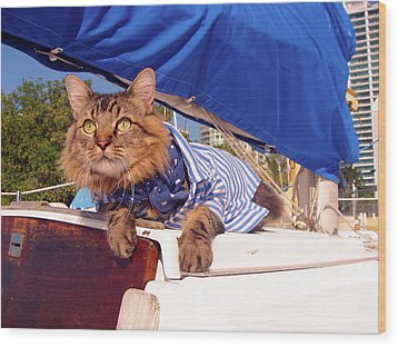 Wood Print featuring the photograph First Mate by Joann Biondi