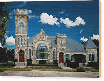 First Presbyterian Church Of Eustis Wood Print by Christopher Holmes