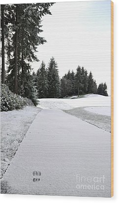 First Snow 10 Wood Print by Tanya  Searcy