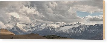 First Snow 2012 Rocky Mountains Wood Print by Larry Darnell