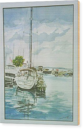 Fish Creek Harbor Wood Print by Laurel Fredericks