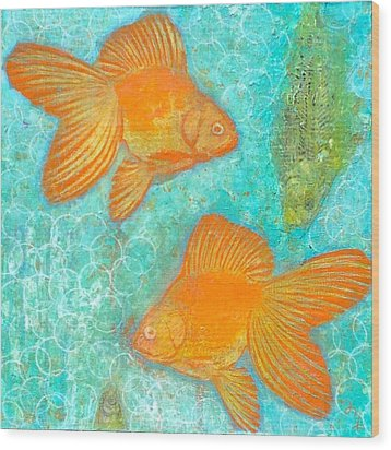 Fish For Free Wood Print by Micki  Moss