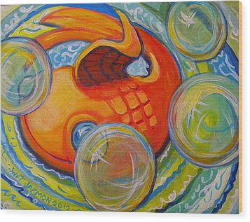 Fish Fun Wood Print by Jeanette Jarmon