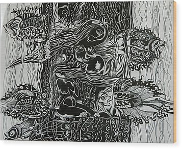 Fish River Wood Print by Min Wang