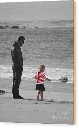 Wood Print featuring the photograph Fish With Me Daddy by Terri Waters