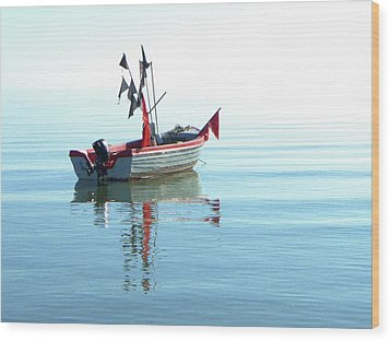 Fisher-boat In Baltic Sea Wood Print by Km-foto