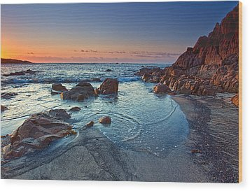 Wood Print featuring the photograph Fishermans Bay Sunrise by Paul Svensen