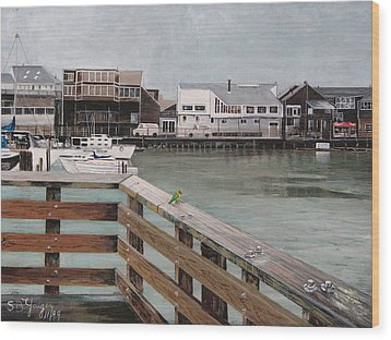Wood Print featuring the painting Fishermans Wharf San Francisco by Stuart B Yaeger