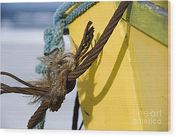 Wood Print featuring the photograph Fishermens' Knot by Agnieszka Kubica