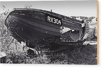 Fishing Boat Wreck Wood Print by Sharon Lisa Clarke