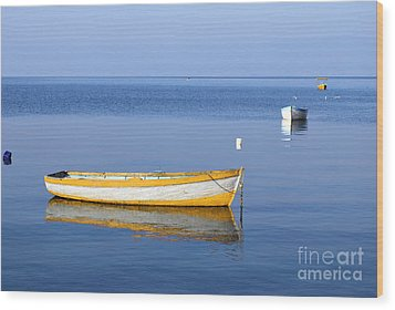 Fishing Boats Wood Print by Marija Stojkovic
