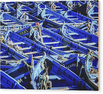 Fishing Boats Wood Print by Marion McCristall