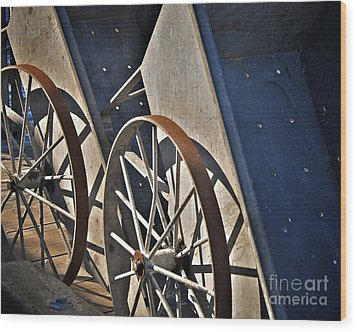 Wood Print featuring the photograph Fishing Cart II by Sherry Davis