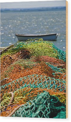 Wood Print featuring the photograph Fishing Nets by Trevor Chriss