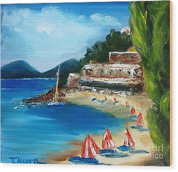 Fishing Village Of Greece Wood Print