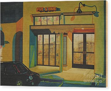 Five And Dime Wood Print by Vikki Wicks
