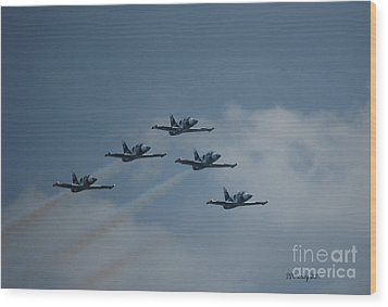 Five Man Formation Wood Print