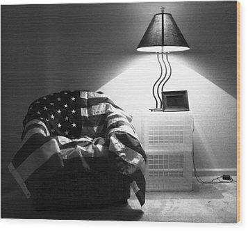 Flag Series No. 2 Wood Print by Julia Pappas