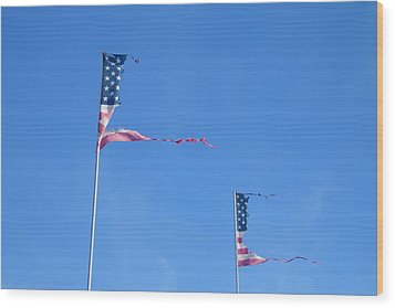 Flags Wood Print by Phil Hill