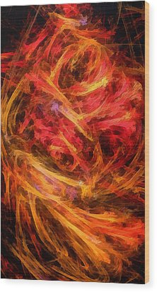 Flamboyance Wood Print by RochVanh