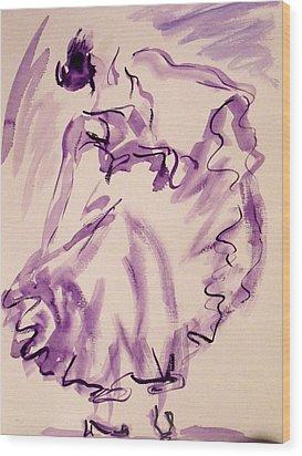 Flamenco Dancer 11 Wood Print