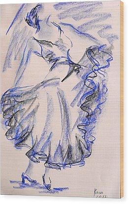 Flamenco Dancer 8 Wood Print