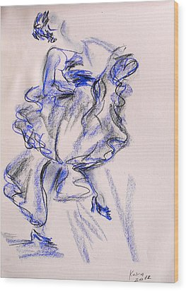 Flamenco Dancer 9 Wood Print