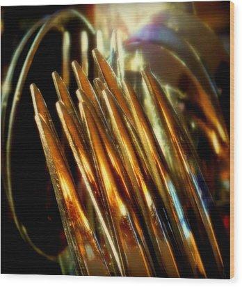 Flames Of Bronze Wood Print by Karen Wiles