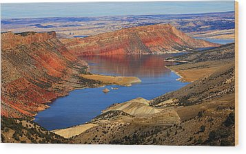 Flaming Gorge Wood Print by Donna Duckworth