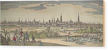 Flanders: Bruges, 1720 Wood Print by Granger