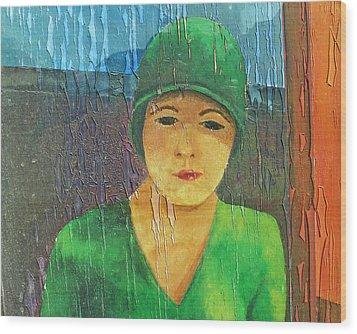 Flapper Wood Print