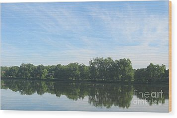Wood Print featuring the photograph Flat Water by Nancy Dole McGuigan