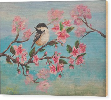 Flathead Spring Blossoms Wood Print by Misty Mueller
