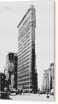 Flatiron Building Bw3 Wood Print by Scott Kelley