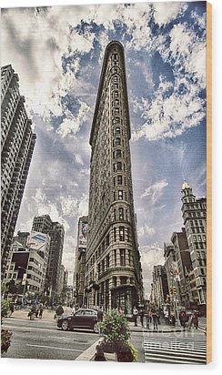Wood Print featuring the photograph Flatiron From The Point by Vicki DeVico