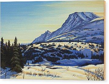 Flattop Winter Wood Print by Kurt Jacobson