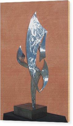 Flight Of Daphne Wood Print by John Neumann