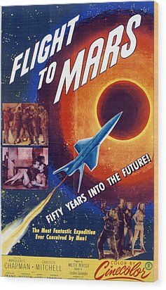 Flight To Mars, 1951, Poster Art Wood Print by Everett