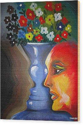 Flip-face Ambiguity Wood Print by Shakhenabat Kasana