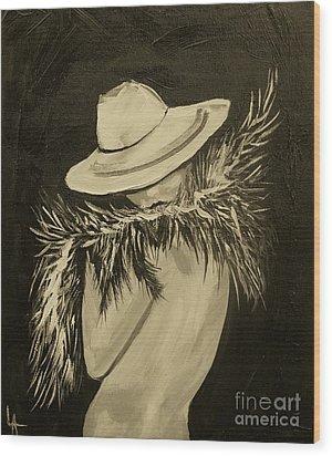 Flirt Three Wood Print by Leslie Allen