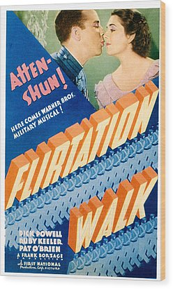 Flirtation Walk, Dick Powell, Ruby Wood Print by Everett