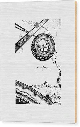 Floating Mountain Wood Print by Jan Adrian Klein Ovink